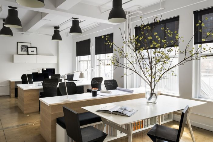 Office tour bhdm design new york city offices office for Modern office space layout