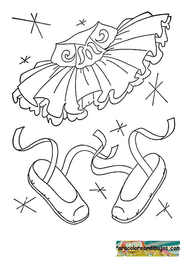 traje de bailarina para colorear | Otro dibujos | Pinterest | Traje ...