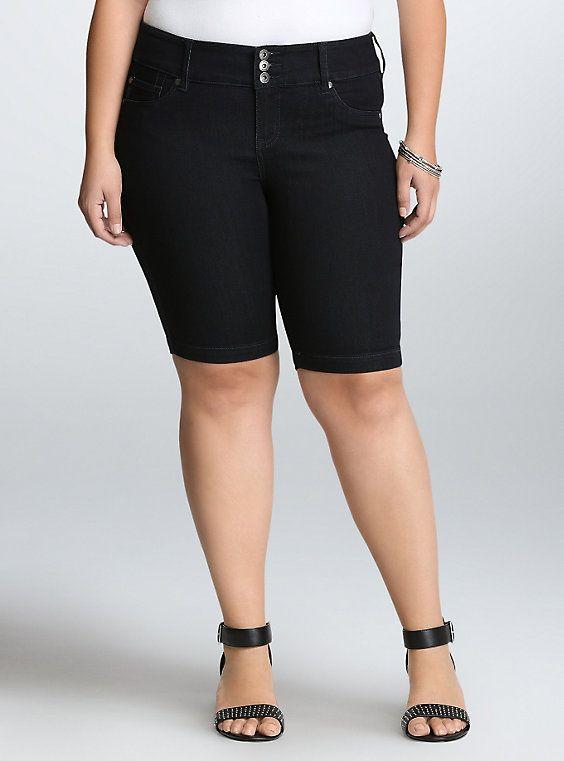 092f1cbfd87 Torrid Jegging Bermuda Shorts - Dark Wash