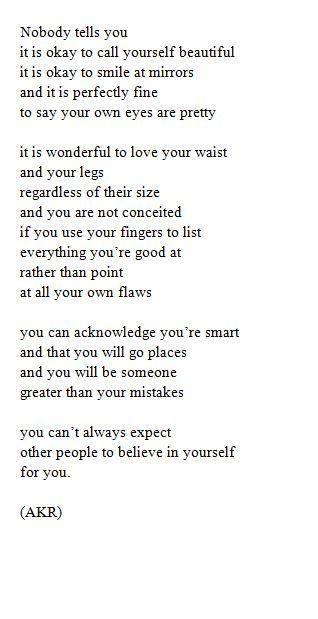 Its okay to love yourself