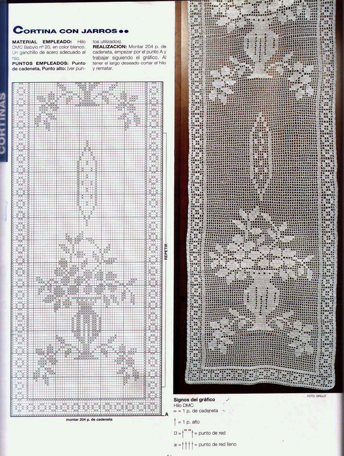 Cortina+Nº+1.jpg] | patrones ganchillo | Pinterest | Cortinas ...