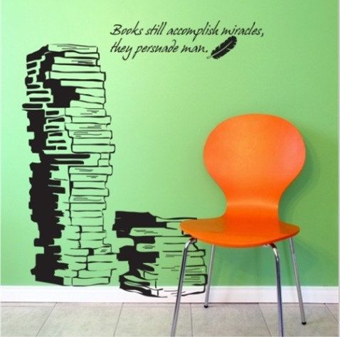 Book Books Words Vinyl Wall Decal S Vinyls Study Rooms And - Vinyl wall decals books