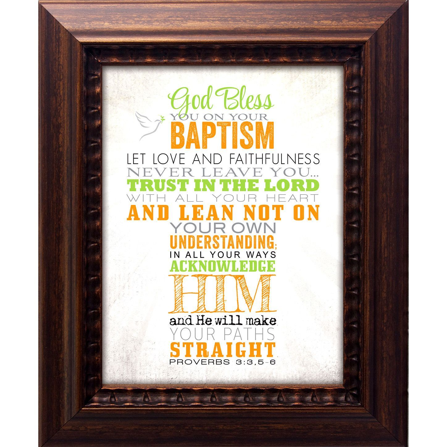 Baptismgod bless you on your framed graphic art products