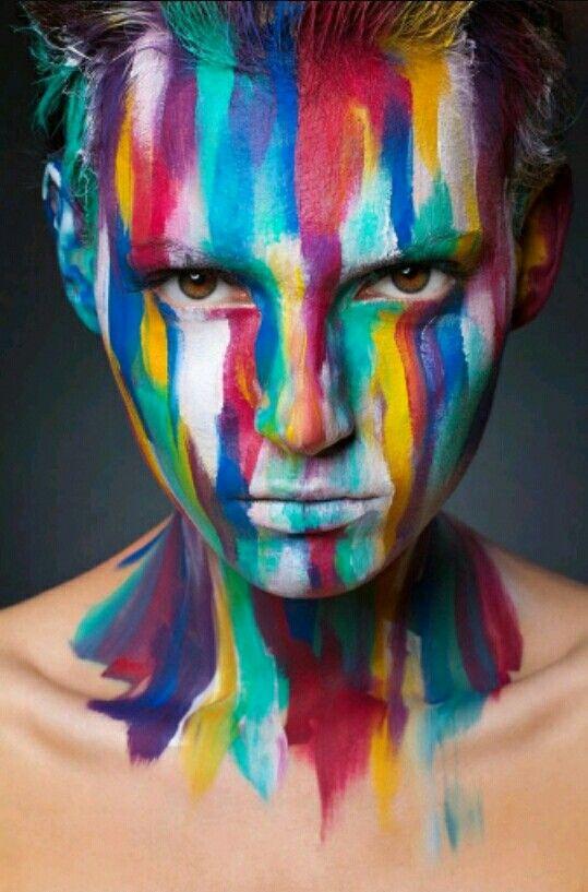 Á´˜ÉªÉ´ Jazia Yals Body Art Photography Body Art Painting Creative Portrait Photography