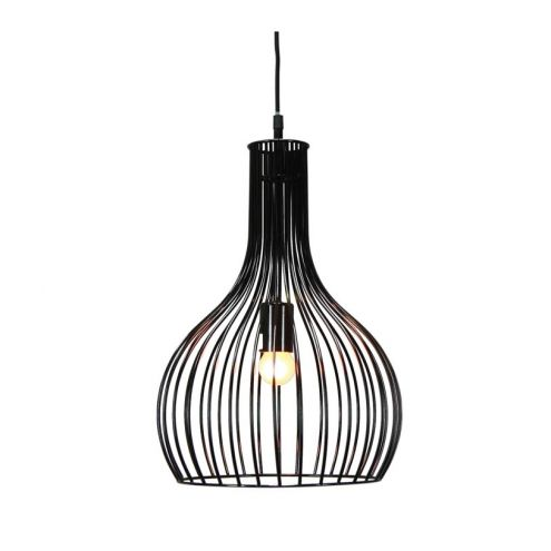 Suspension m tal noir oslo cat pinterest for Luminaire noir suspension