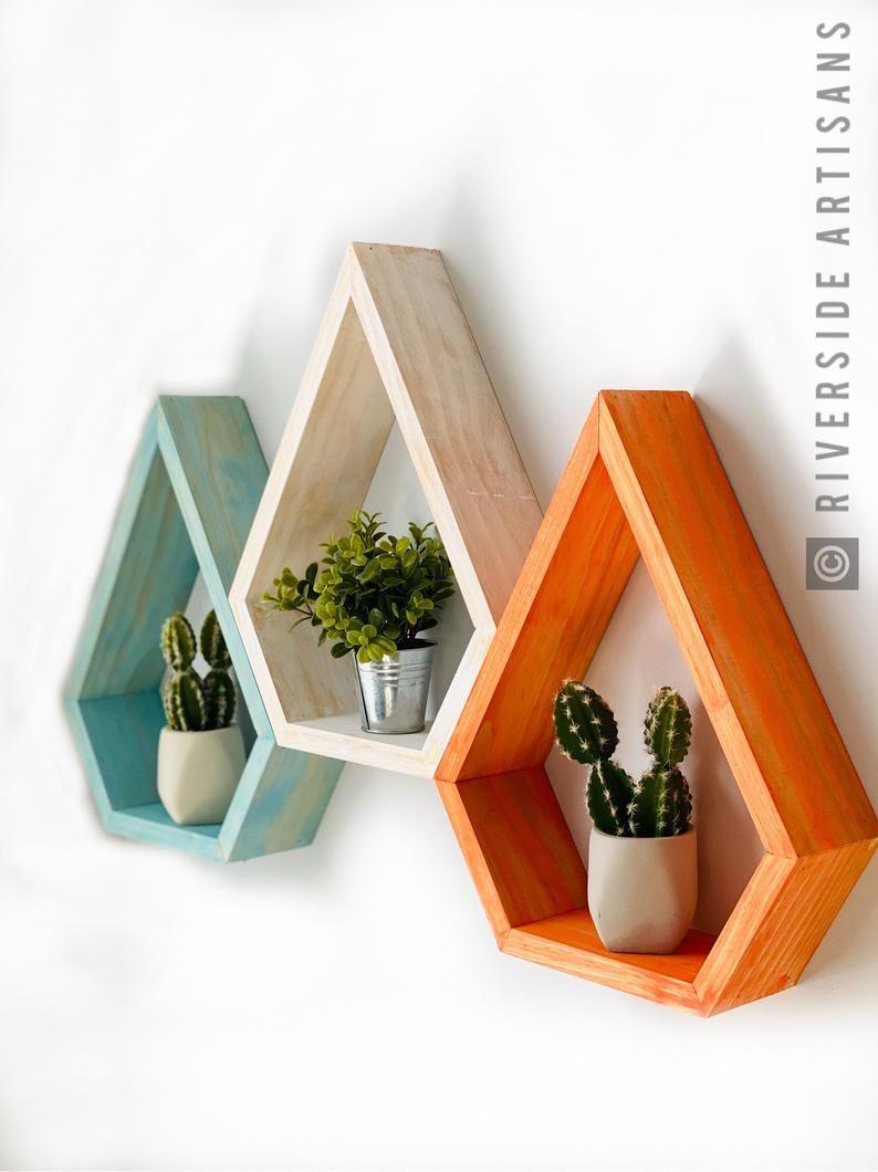 Modern Reclaimed Wood Floating Shelf Unique Home D