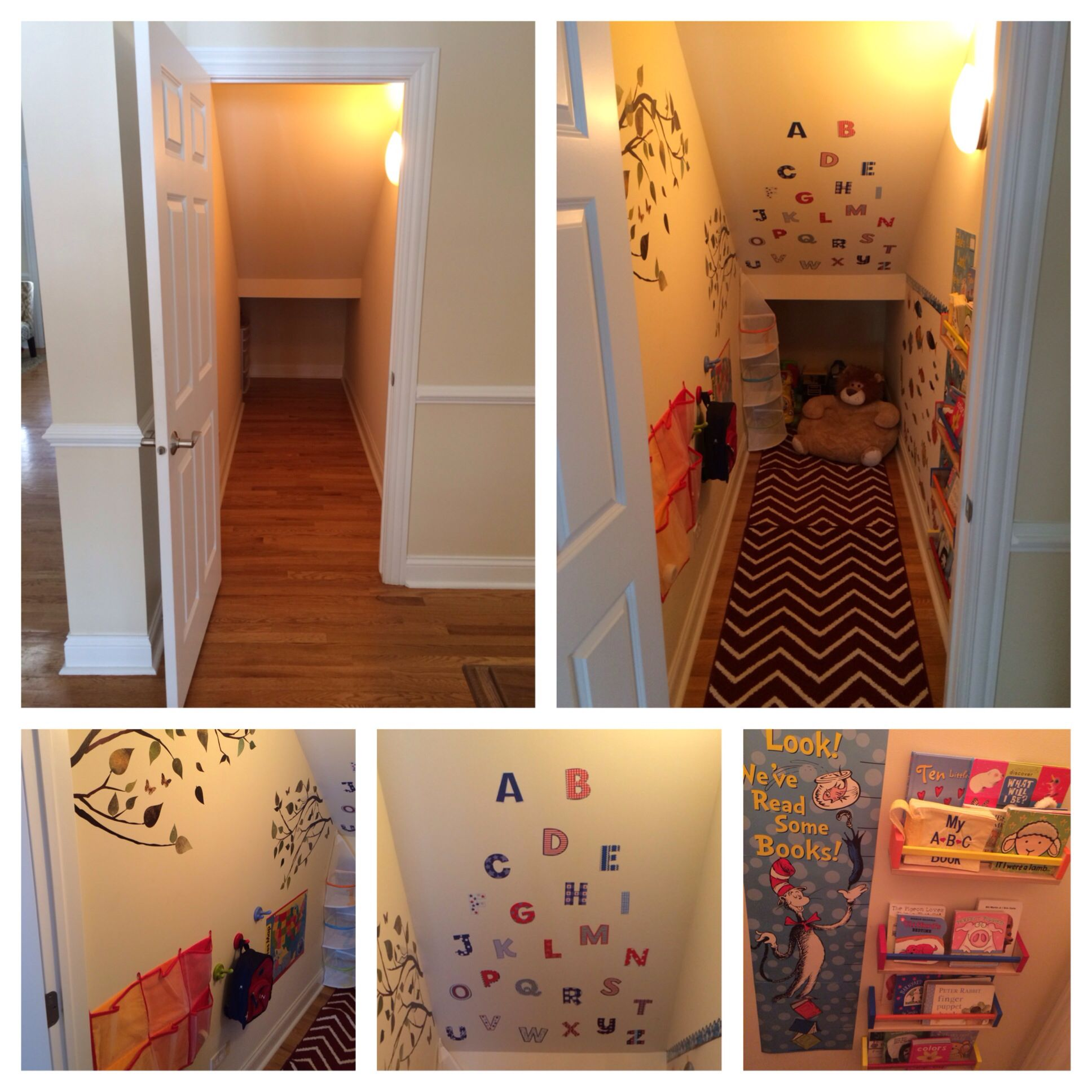 Kids Playroom The Closet Under The Stairs Stair Nook Closet