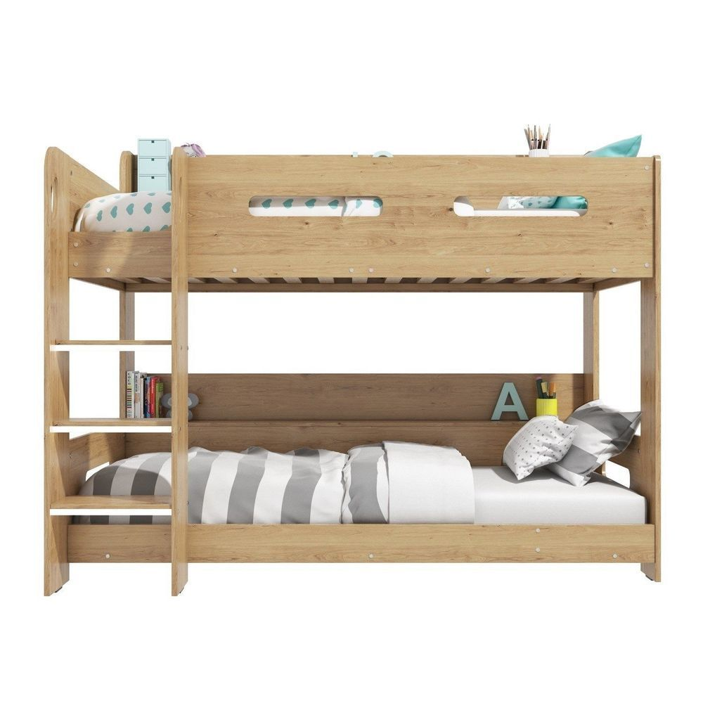 Oak loft bed with desk  Oak Bunk Bed Wooden Storage Ladder Can Be Fitted Either Side Space