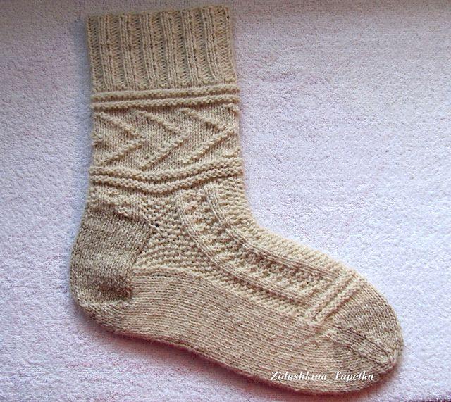 gansey knit sock / 2 tone http://www.ravelry.com/projects/foton1977/gladys