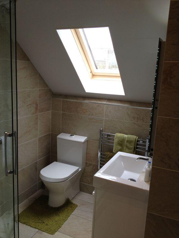 Loft Conversion Bathroom By Helmanis Howell Roman Showers Loft Bathroom Small Attic Bathroom Ensuite Shower Room