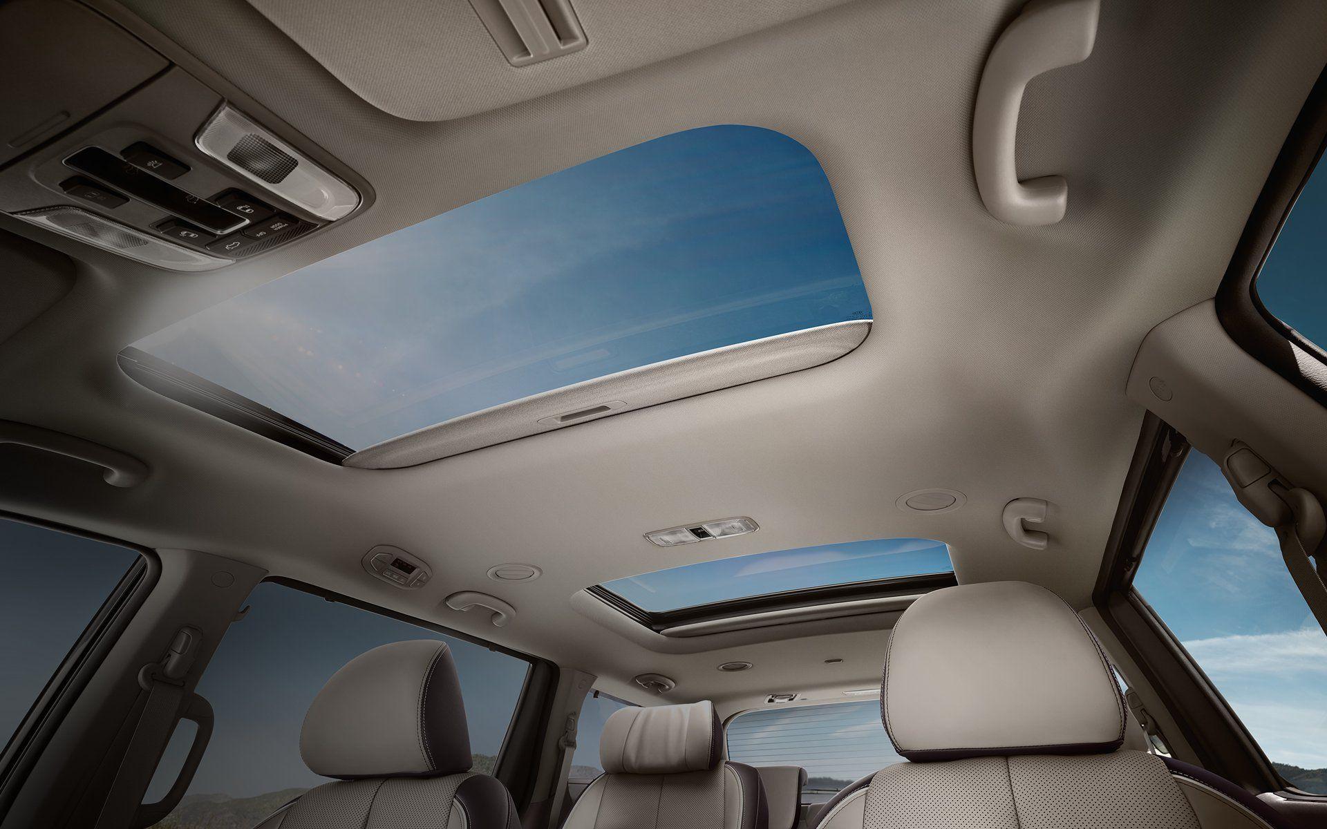 Take In The Sunlight With The Available Dual Sunroofs Kiasedona Mini Van Kia Sedona Kia Sedona Interior
