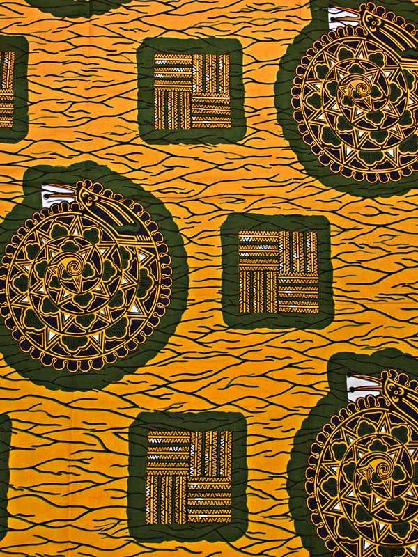 tissu africain dore