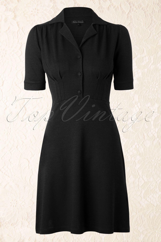 King Louie - 40s Milano Diner Dress in Black