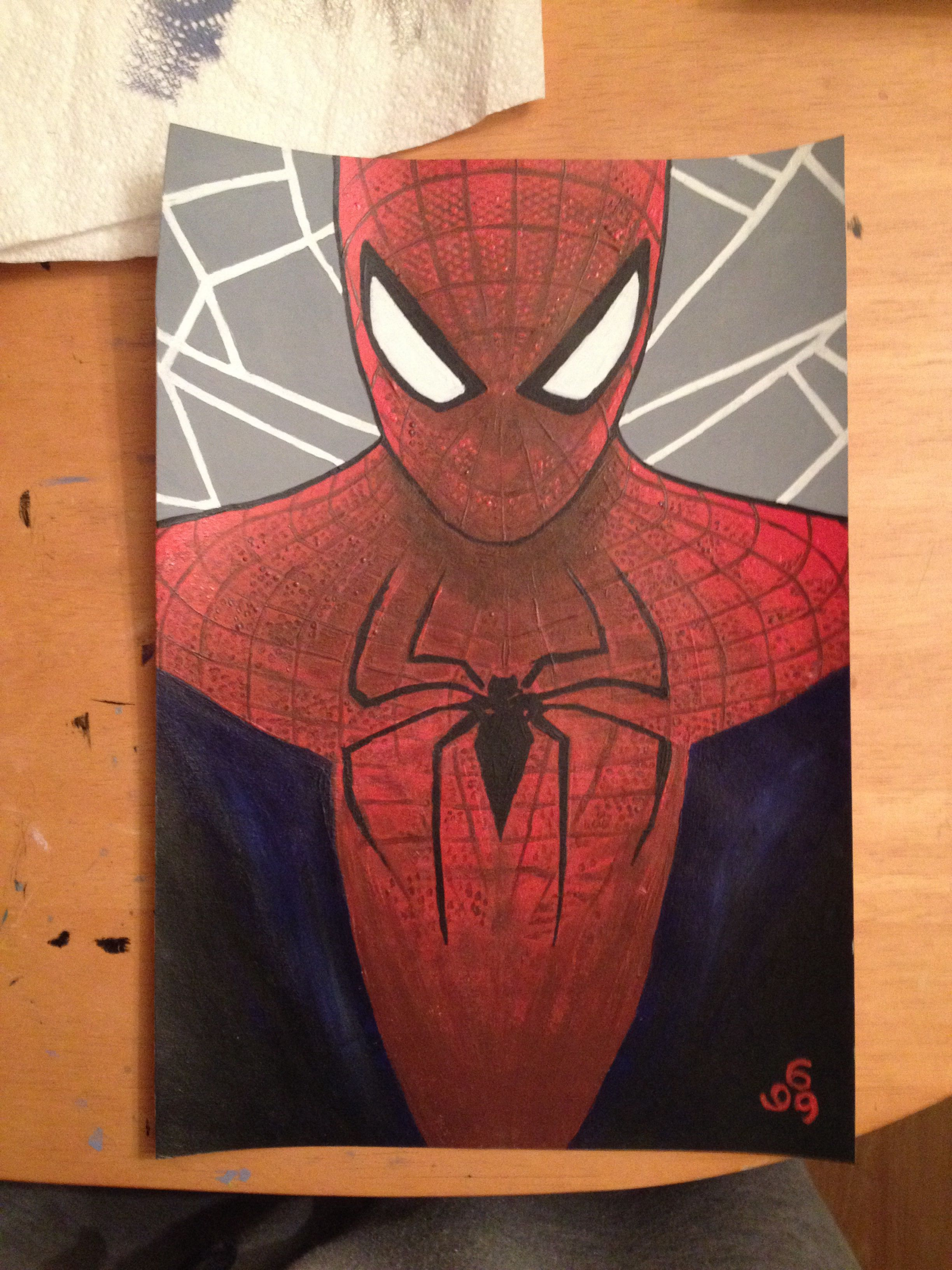 Pin By Jayme Murakami On Craft And Art Spiderman Painting Avengers Painting Spiderman Drawing