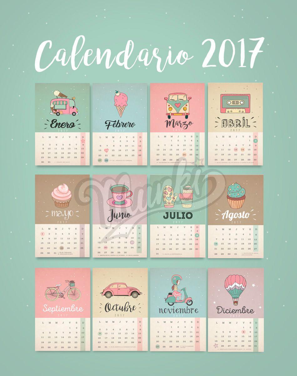 Dise os originales personalizados y listos para imprimir - Disenos de calendarios ...