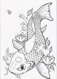 Resultado de imagem para carpa desenho preto e branco for Como criar peces koi