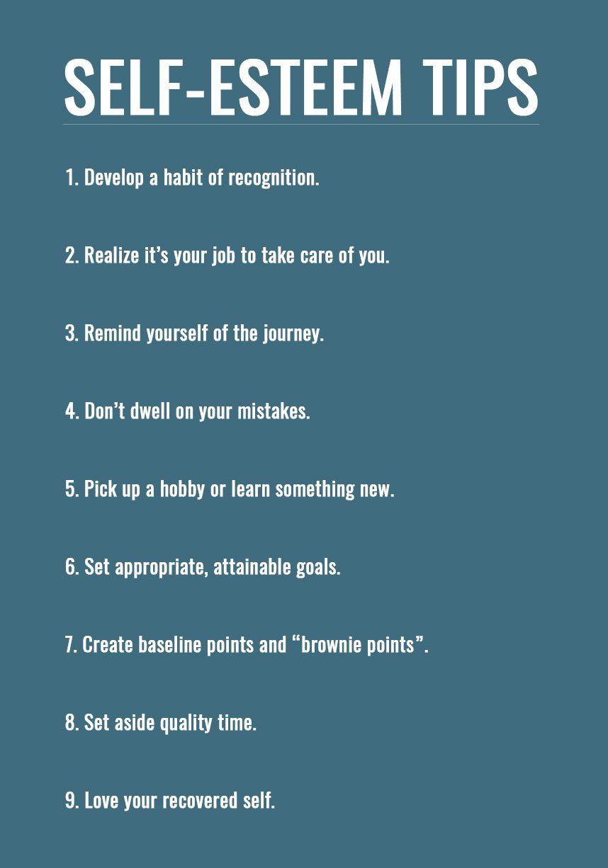 Tips on self esteem building Self esteem