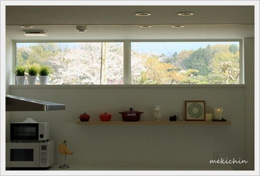 キッチンの高窓の効果 高窓 窓 デザイン キッチンデザイン