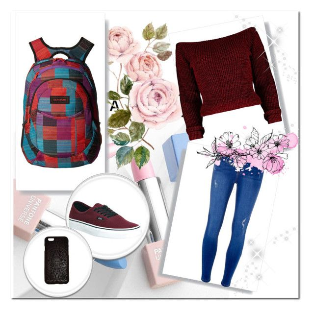 """""""casual 1"""" by the-blueglasses ❤ liked on Polyvore featuring Dakine, Vans, Aztech, Dorothy Perkins, Sephora Collection and Karlsson"""