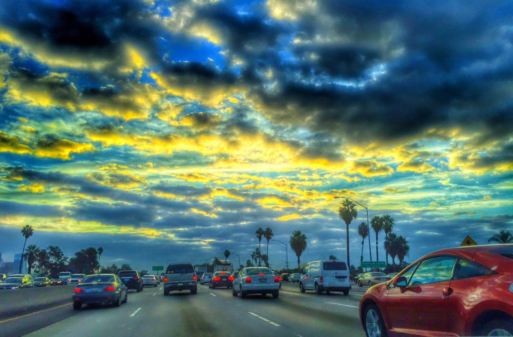 10 Freeway Los Angeles Morning