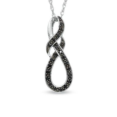 Zales Diamond Accent Knotted Swirl Pendant in Sterling Silver owOPin