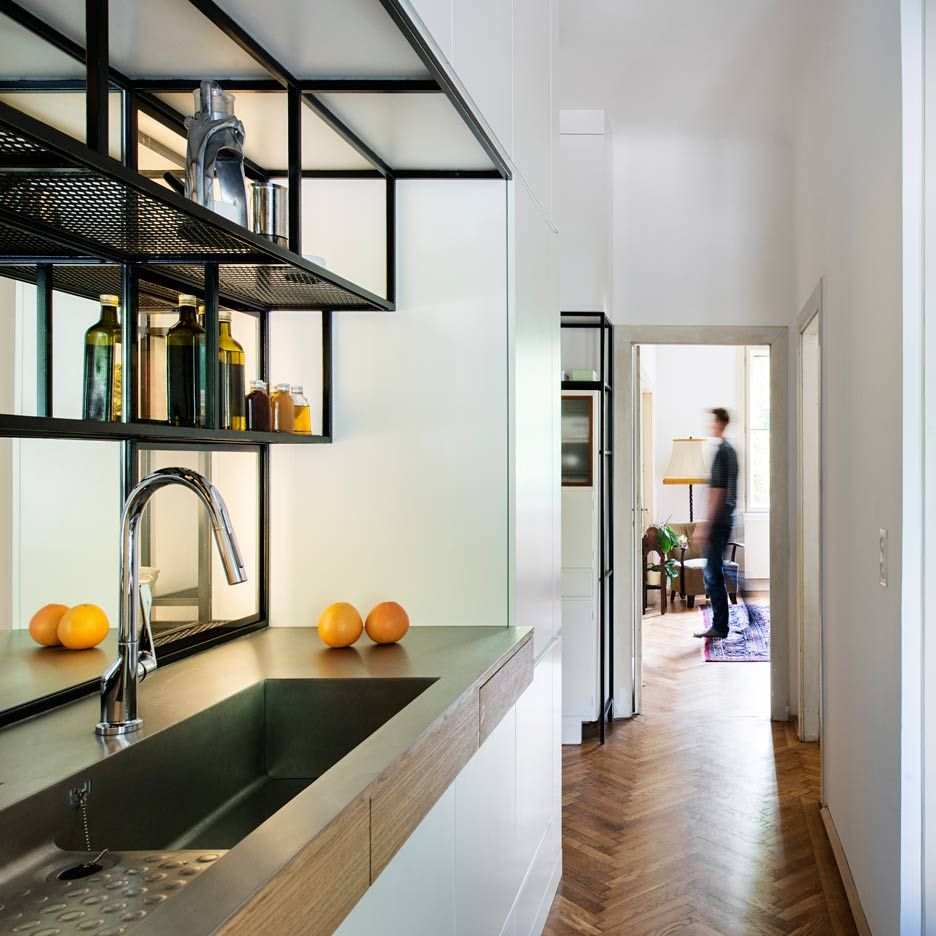 Kitchen Interior Fittings Ifub Installs Bespoke Black Steel Fittings In 1930s Art Deco
