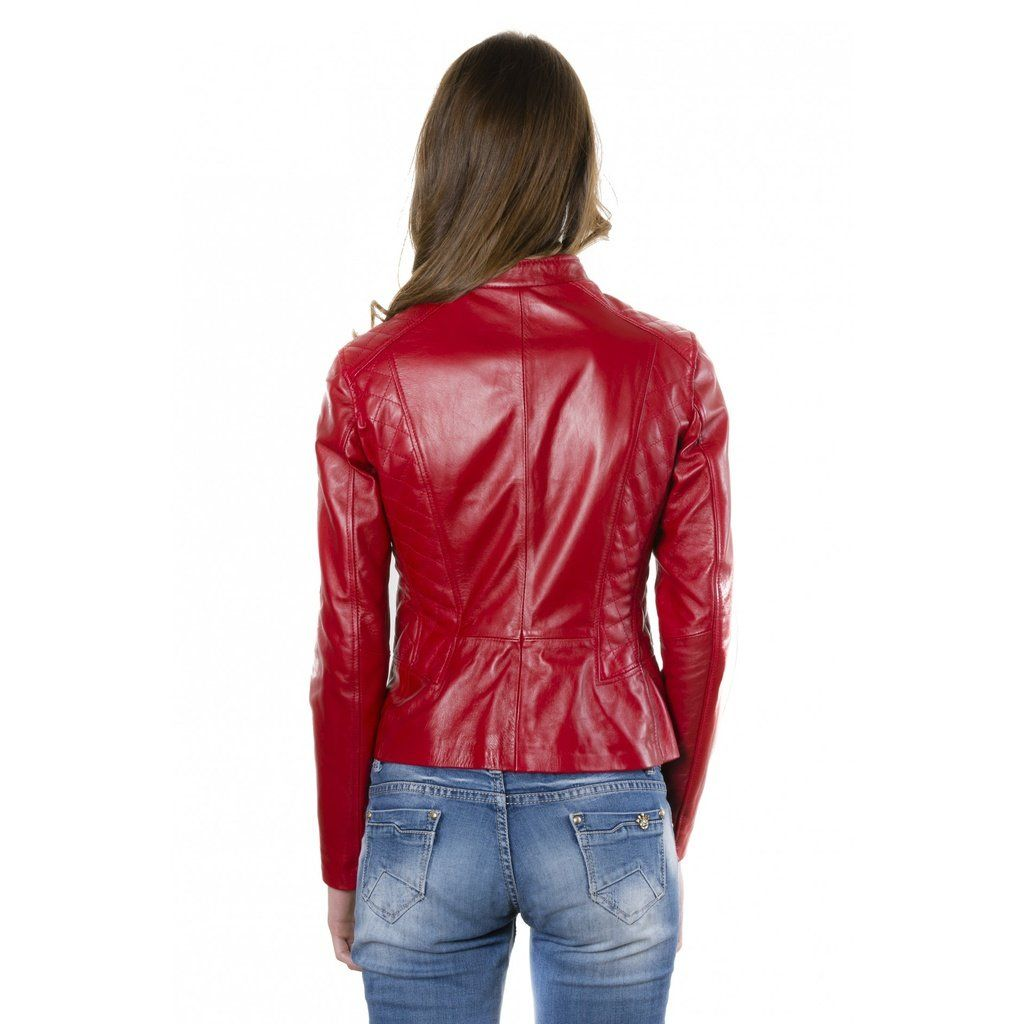 Women S Handmade Leather Jacket 100 Soft Lamb Leather Selected Materials And 100 Made In Italy Italian Leather Jackets Quilted Leather Red Leather Jacket [ 1024 x 1024 Pixel ]