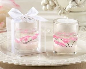Baptismal or Easter candle Cherry Blossom--15-inch Wedding