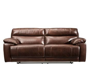 Deacon Leather Match Power Reclining Sofa Family Room