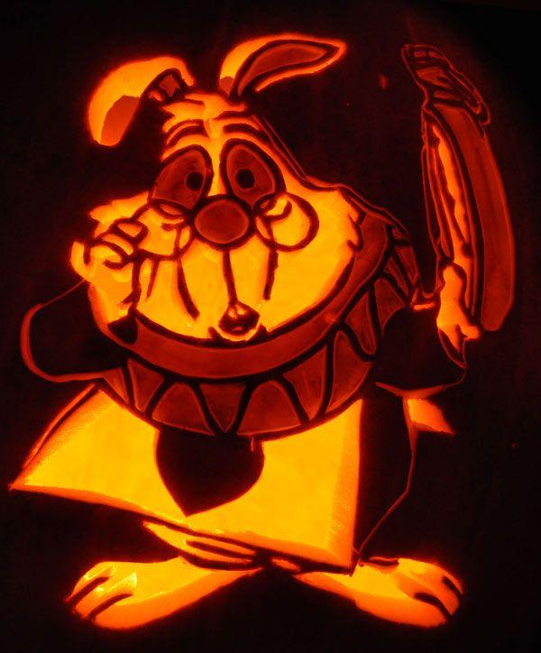 Pumpkin Carving White Rabbit Noel Halloween Pets