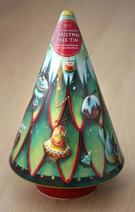 Marks & Spencer Biscuit Tin   Biscuit tin, M&s christmas tree, Tin