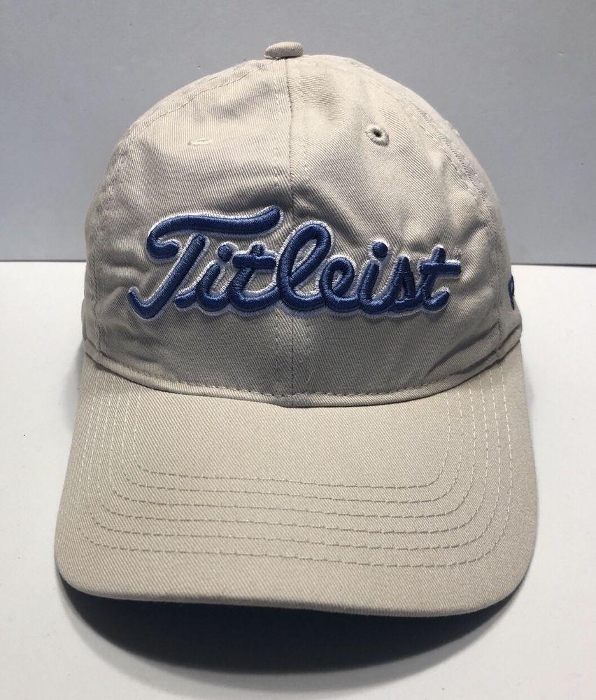 89f7a28e54e Titleist Golf Cap Hat Foot Joy Pro V1 Adjustable Adult 100% Cotton ...