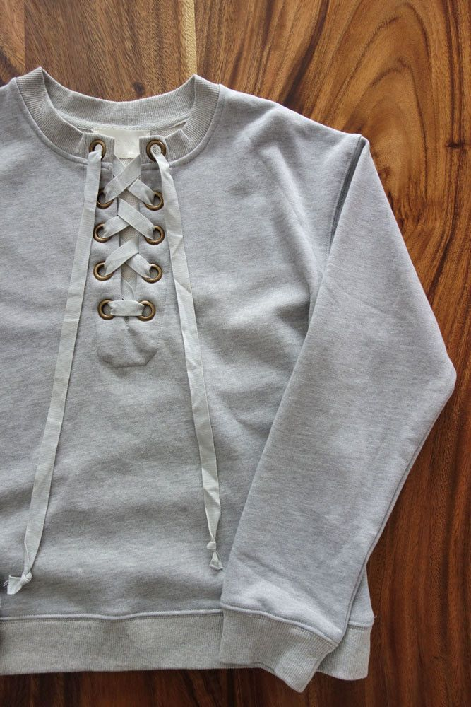 Nova Lace Up Sweatshirt - Grey  9c260528e