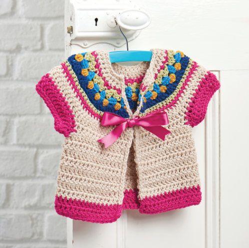 7f4089286 Crochet Pattern for Baby Cardigan Sweater