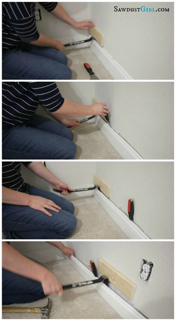 Removing Baseboard Without Damage Sawdust Girl Removing Baseboards Baseboards Home Diy