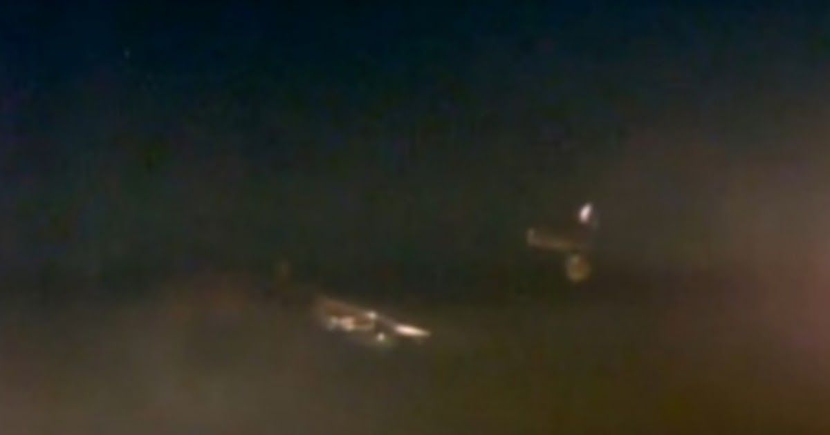 Photo of Two UFOs Next To The ISS On Live Feed
