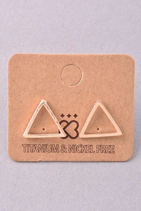 Hollow Triangle Studs