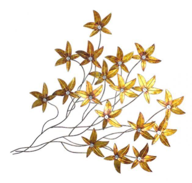 Kovov 225 Dekorace Na Zeď Zlat 233 Květy Kovov 233 Dekorace Na