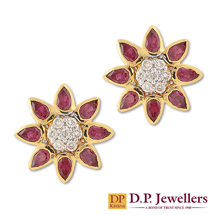 fd7811bc599355 Little ruby Sun-Shines! #diamonds #ruby #trendy #happiness #joy #jewellery  #gold #necklace #bangles #earrings #ratlam #indore #udaipur