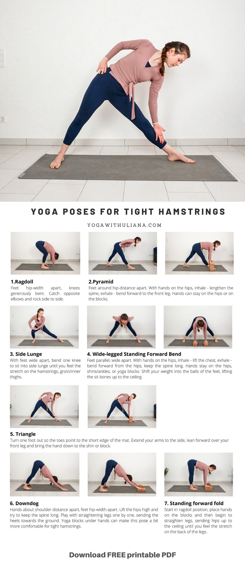 50 Yoga Printables PDF Download ideas in 50   yoga, morning yoga ...
