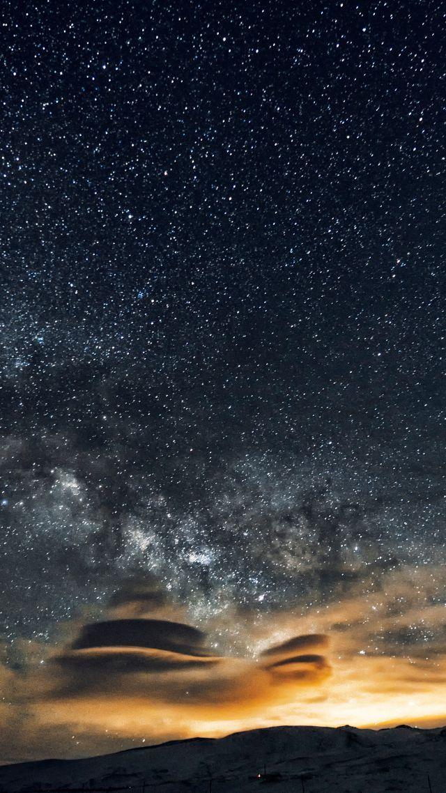 Céu Noturno 5k Papel De Parede 4k 8k Estrelas Noite Montanhas