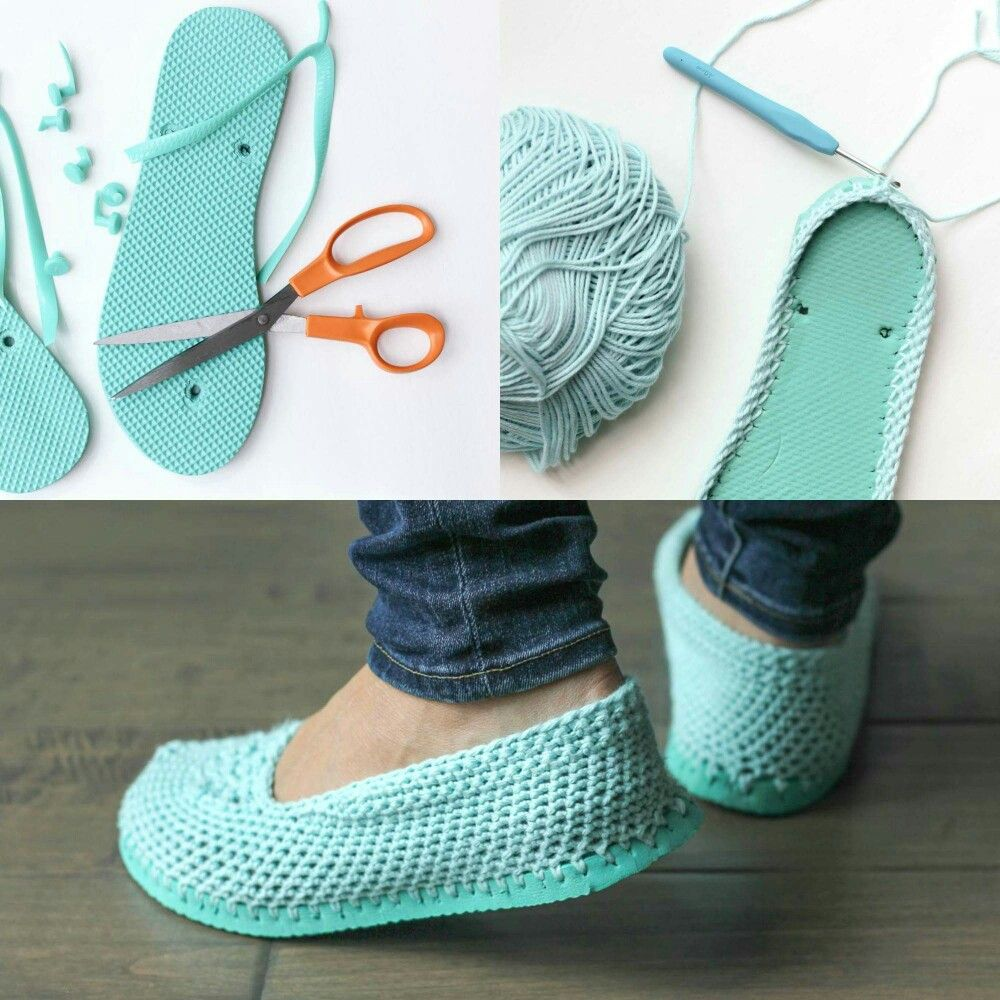 This right here makes me want to learn to crochet turn flip flops this right here makes me want to learn to crochet turn flip flops into comfortable slippers bankloansurffo Gallery