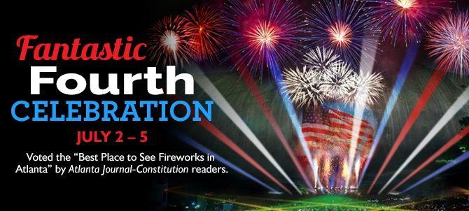 atlanta fireworks fantastic fourth of july at stone mountain park