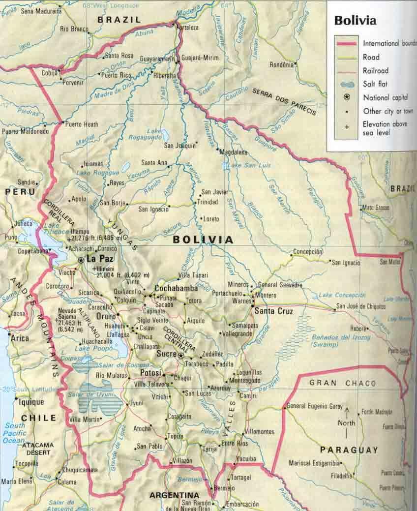 Bolivia Map Bolivia School project Pinterest Bolivia Bolivia
