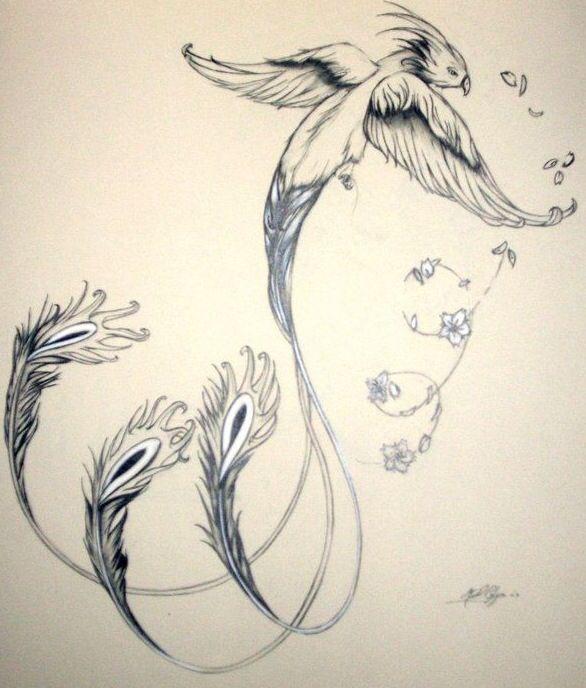 Tatouage d 39 un oiseau qui vole tatouage pinterest tatouages oiseaux et phoenix - Jeux d oiseau qui vole ...