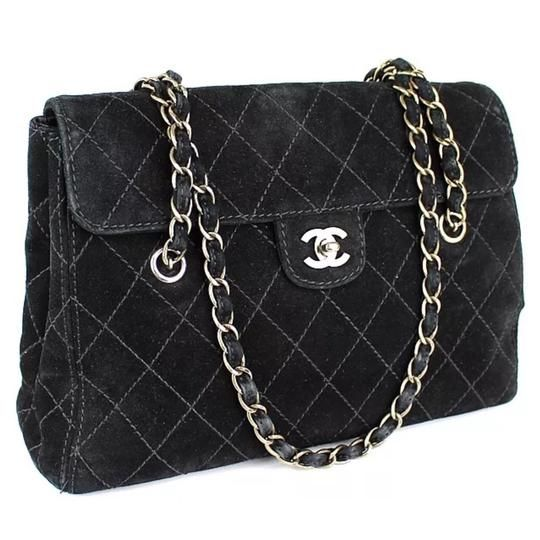790ecdd3fff Get one of the hottest styles of the season! The Chanel Jumbo Black Cc  Suede with Gold Hardware Shoulder Bag is a top 10 member favorite on Tradesy .