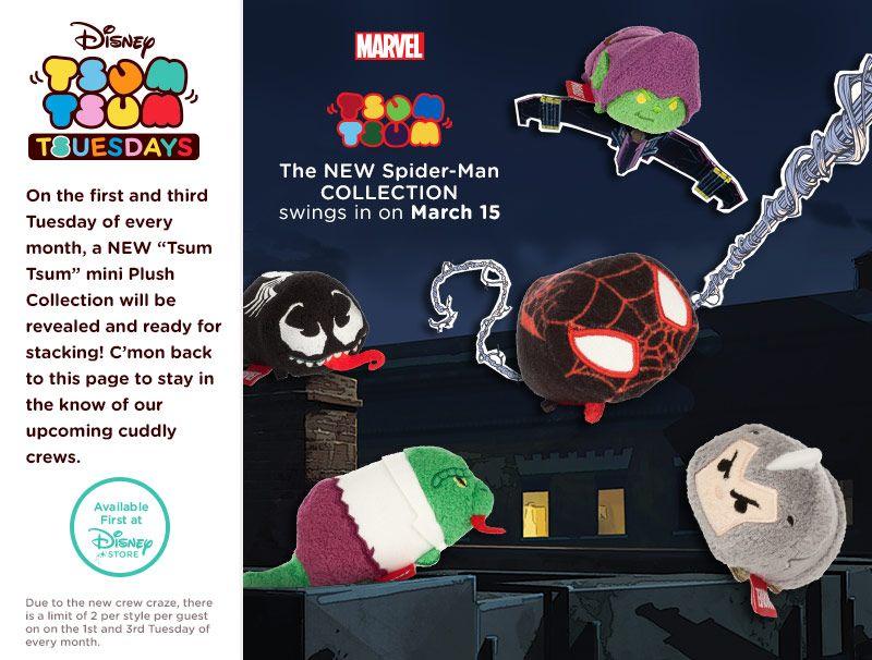 Disney Marvel Spiderman Goblin Lizard Venom tsum tsum collectable plush soft toy