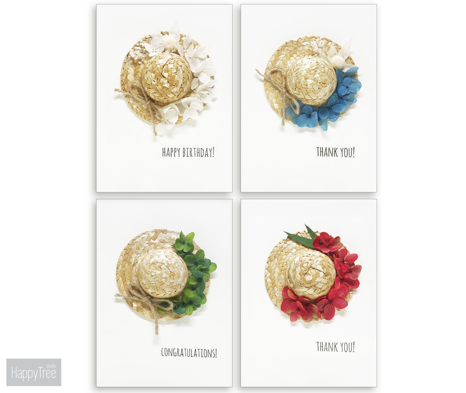 D floral greeting cards custom stamp handmade cards birthday card