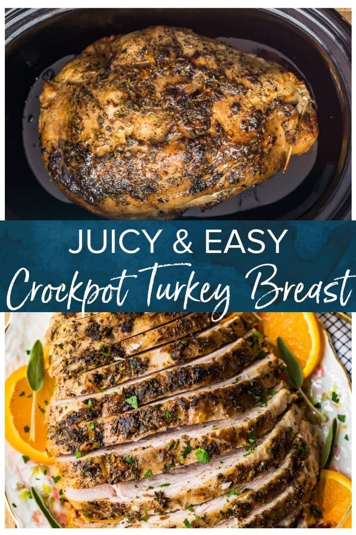 Crockpot Turkey Breast (Slow Cooker Turkey) - The Cookie Rookie