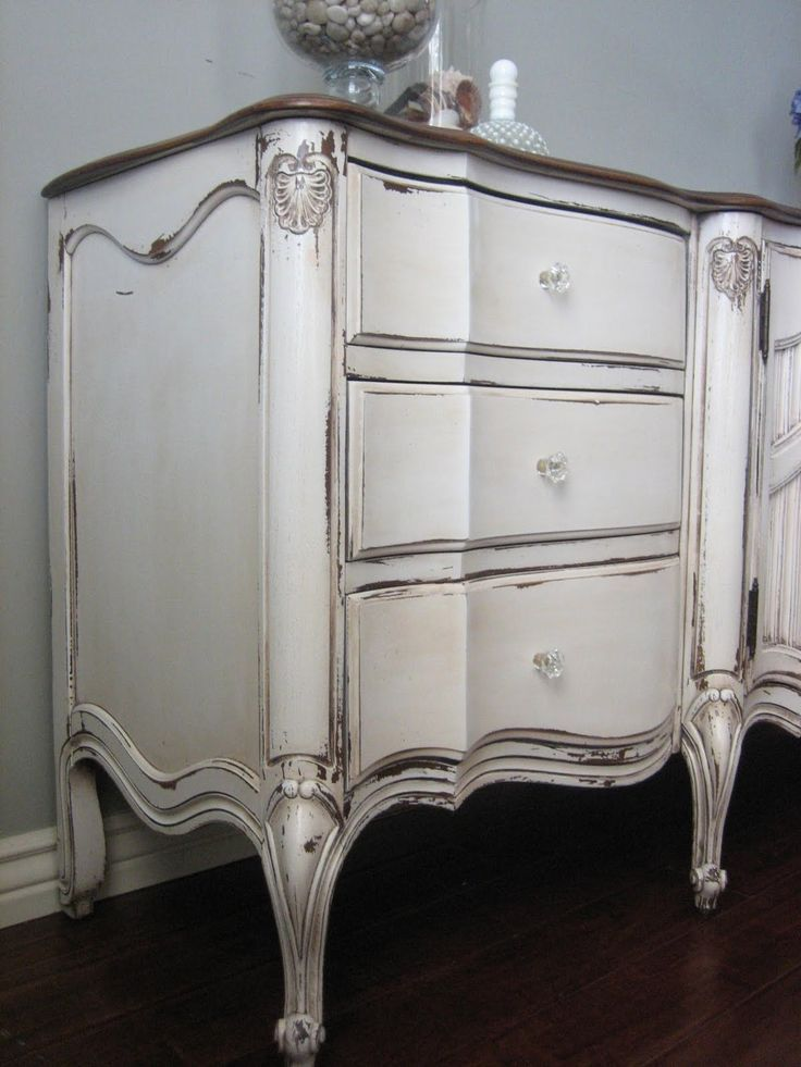 Distressed Grey Dresser French Provincal French